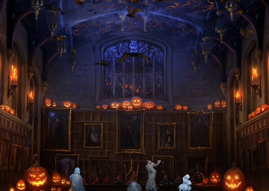 Create Wallpaper Quotes Hogwarts Halloween Feast Audio Atmosphere