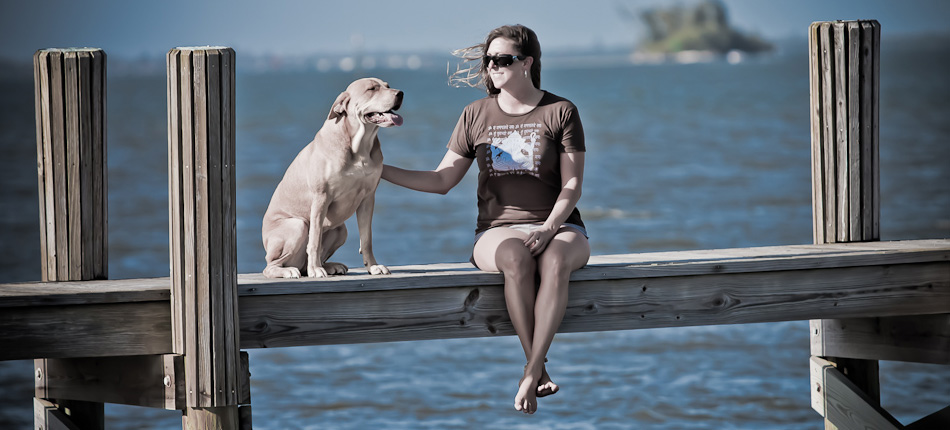 Girl-and-Dog-by-River