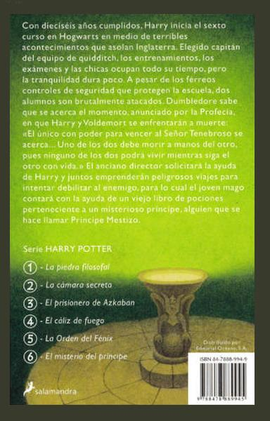 Harry Potter Y El Misterio Del Principe Libro Harry Potter