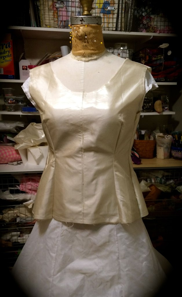 Bodice and Underlining prepped