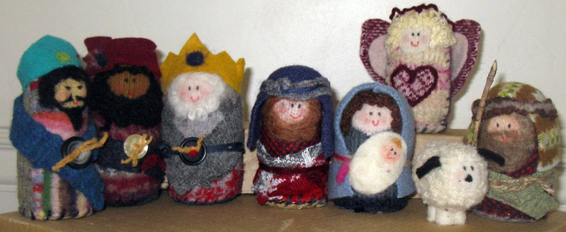 Felted Nativity -- Original Design