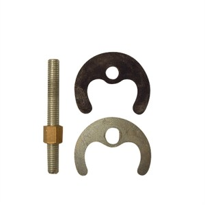 Single bolt fixing set for monobloc taps