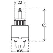 35mm Joystick Ceramic Disk Tap Cartridge