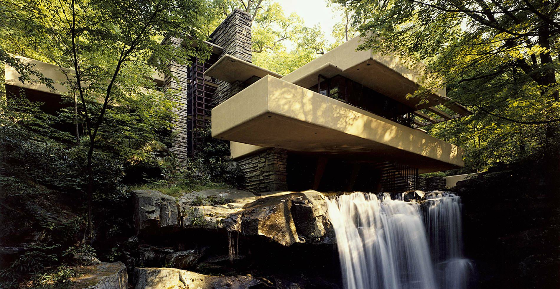 Falling Water House Usa Tour Frank Lloyd Wright S Fallingwater Kentuck Knob In Pennsylvania