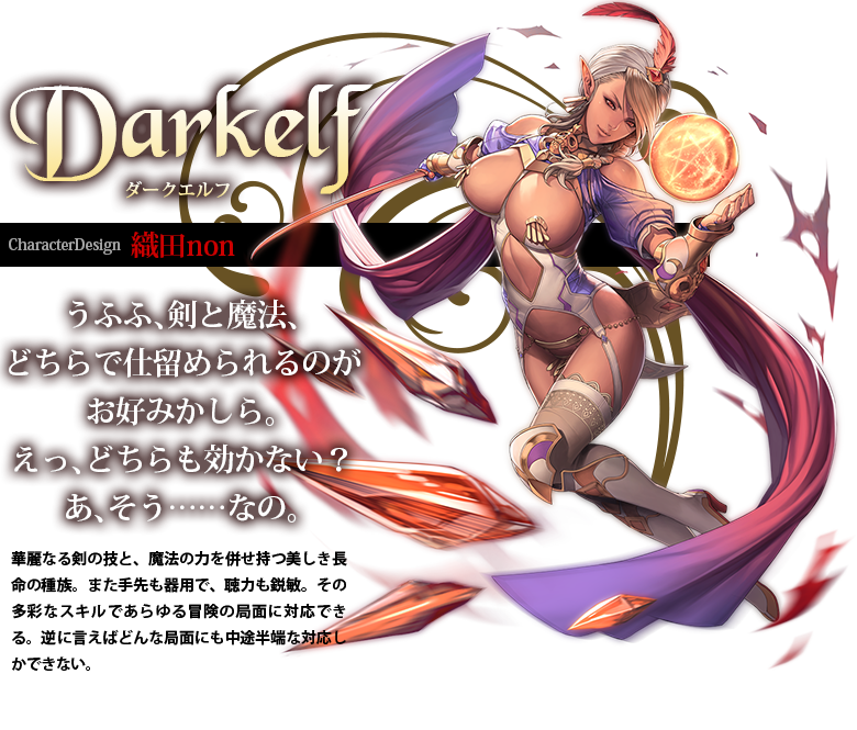 Bikini Warriors TV Anime character design dark elf