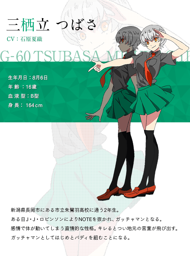 Gatchaman Crowds Insight Character Designs and Cast Revealed Kaori Ishihara as Tsubasa Misudachi