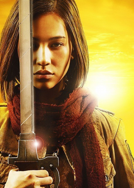 Live-Action Attack on Titan Cast Reveals Armin Isn't Blonde and Hanji Has a RPG haruhichan.com shingeki no kyonjin live action movie Kiko Mizuhara as Mikasa