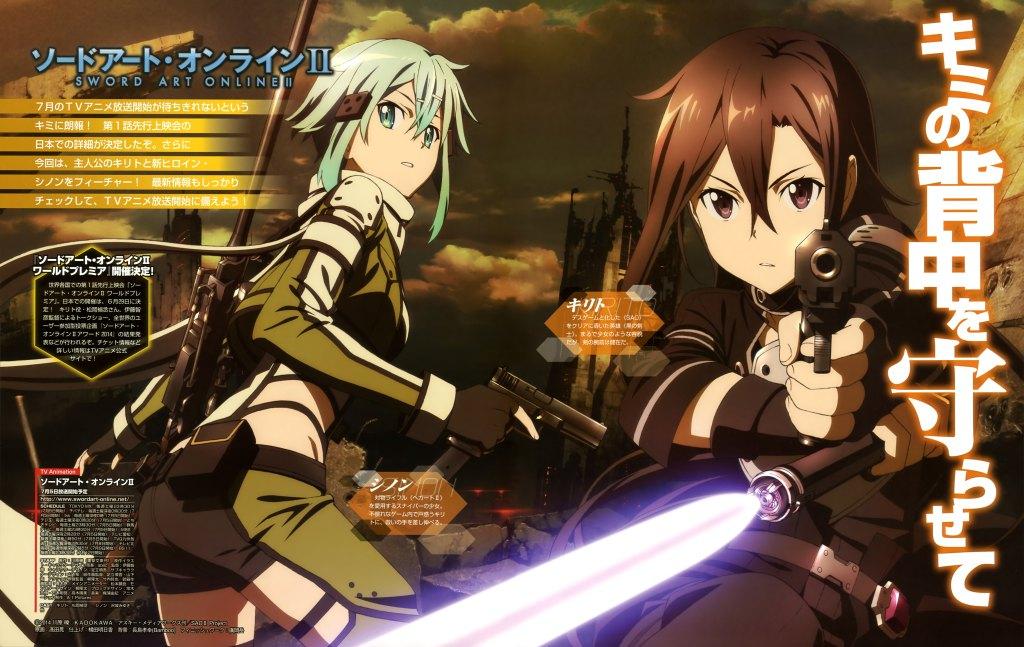 Sword Art Online II1 Anime Trending Rankings of Summer 2014 – Week 8