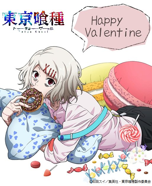 Tokyo Ghoul Author Sketches a Valentine's Themed Juuzou Suzuya