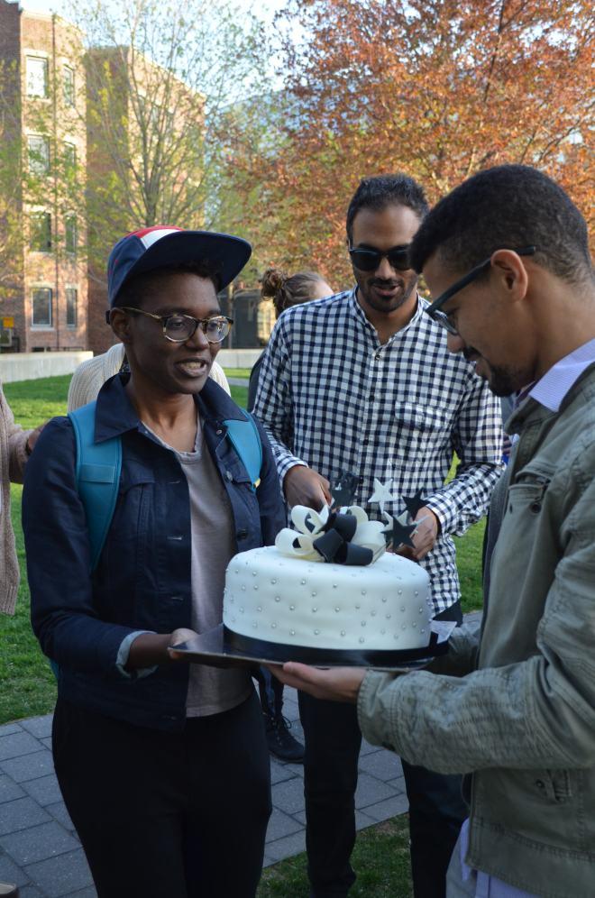 Graduation BBQ Cake