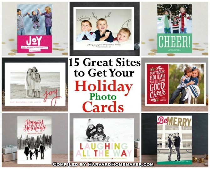 15 Great Sites to Get Your Holiday Photo Cards - Harvard Homemaker