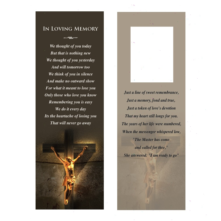 Religious Memorial Bookmark - Harvest Memorial Cards
