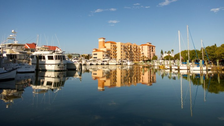 The Madeira Bay Docks marina and Madeira Bay Resort.