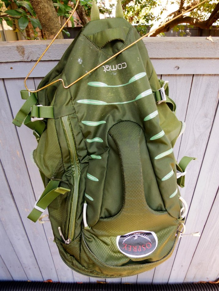 Waterproof cloth daypack.