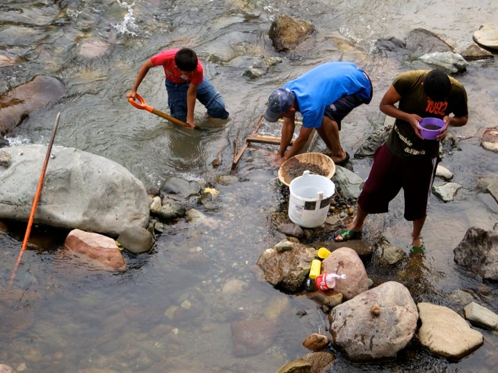 These young men pan for leftover silver in the river that was the largest silver producing mine in all of Mexico three hundred years ago.