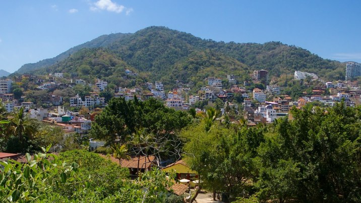 The hills in the south of Puerto Vallarta.