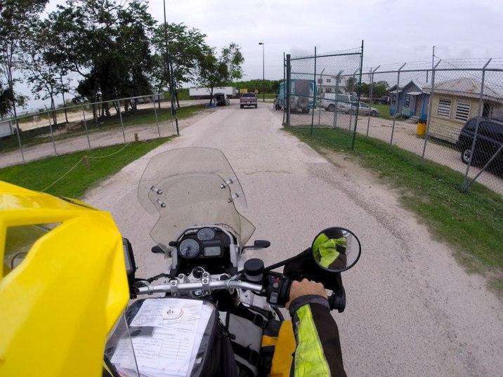 Enter Belize through the gate.