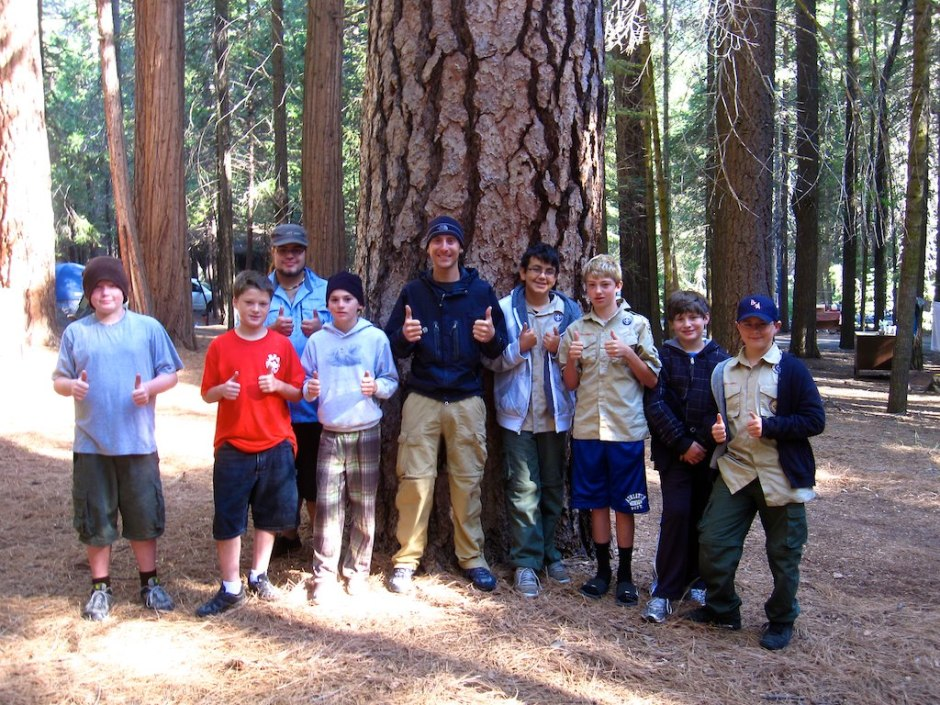 I camp next to Boy Scouts troop 118 from Madera, California.