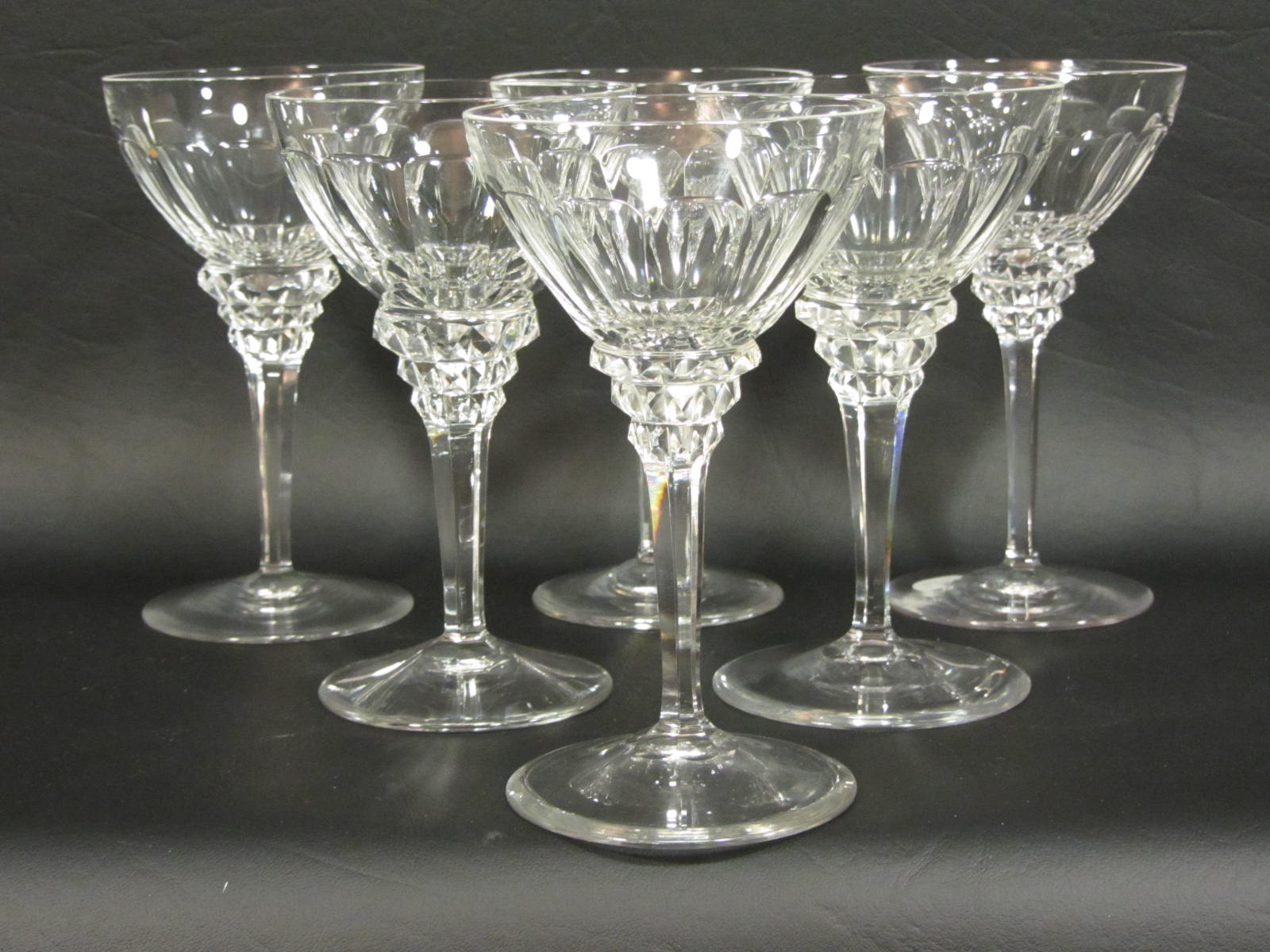Cut Crystal Wine Glasses Colored F028 Set Of Cut Crystal 5½ Quot Art Deco Wine Glass By