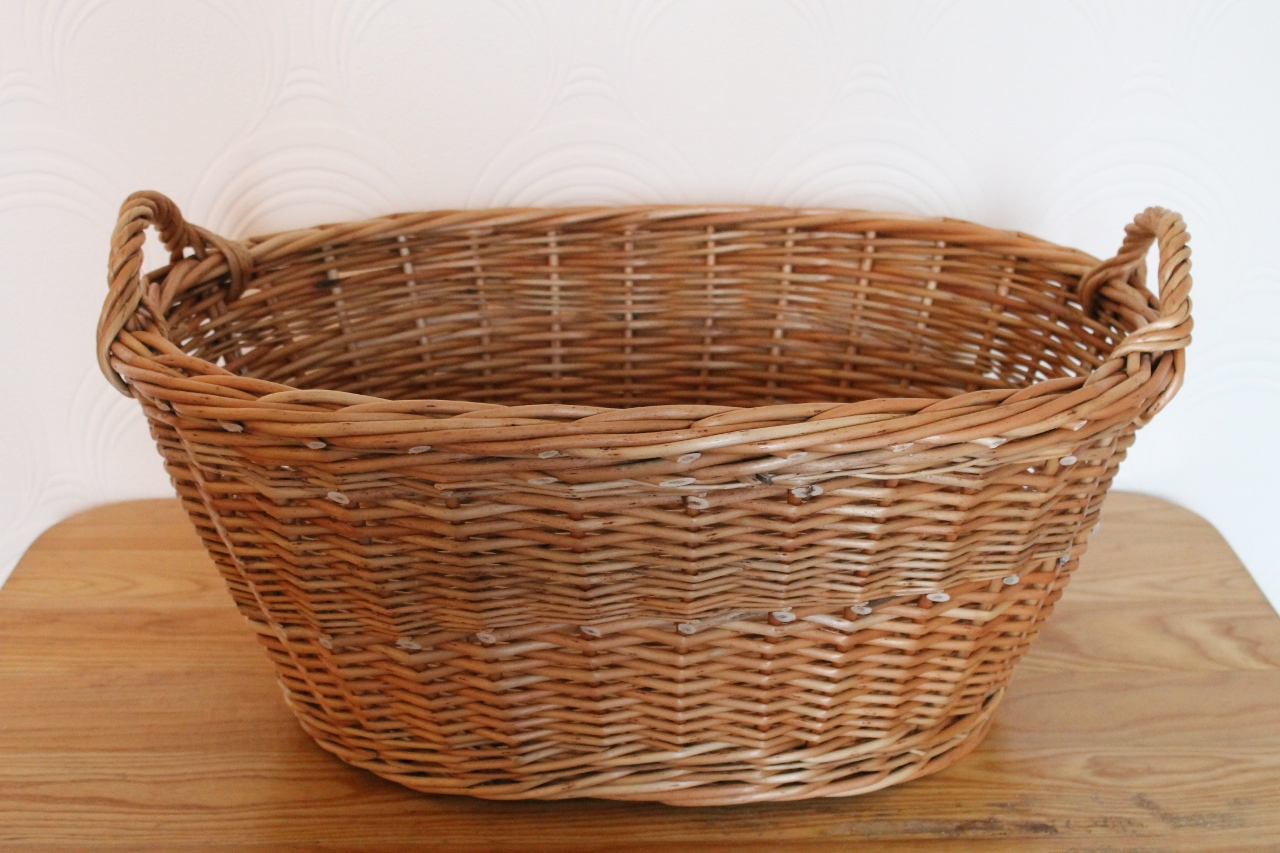 Wash Basket Washing Basket With Woven Handles Wicker Baskets
