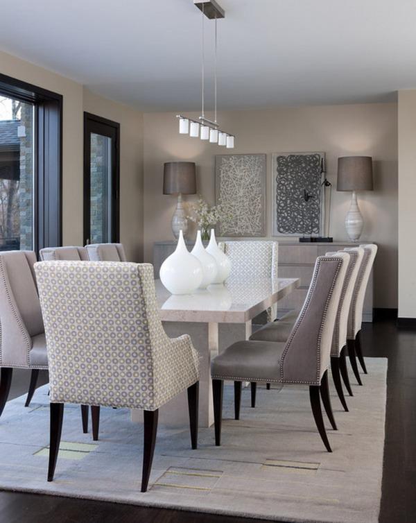 40+ Beautiful Modern Dining Room Ideas - Hative - Beautiful Dining Rooms