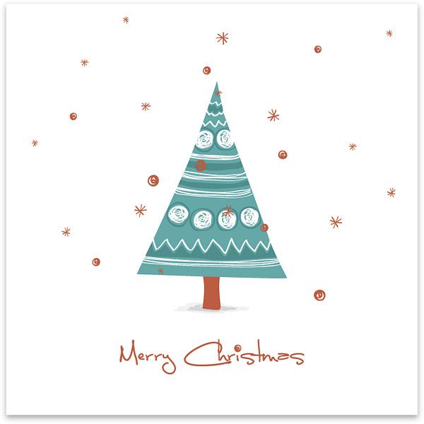 40+ Free Printable Christmas Cards - Hative - printable christmas card templates
