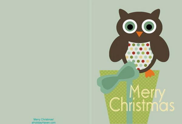 40+ Free Printable Christmas Cards - Hative - christmas card printable