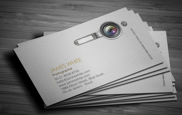 50+ Awesome Photography Business Cards for Inspiration - Hative