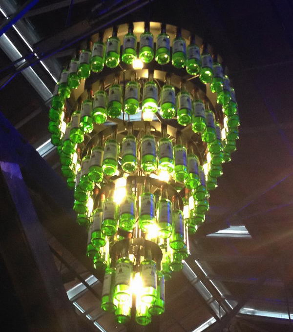 Heineken Lamp 25 Creative Wine Bottle Chandelier Ideas - Hative