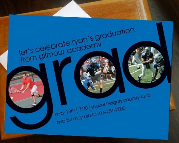 10+ Creative Graduation Invitation Ideas - Hative - senior party invitations