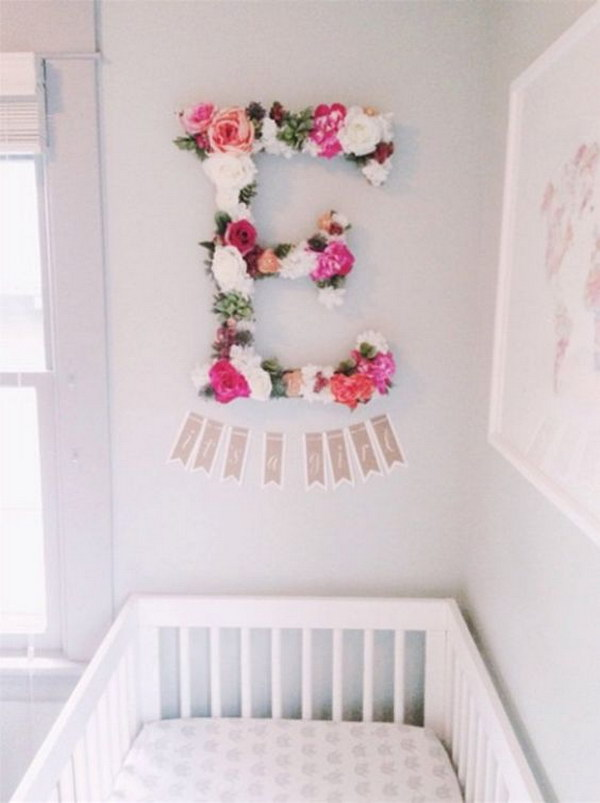 Baby Girl Floral Wallpaper 20 Cute Nursery Decorating Ideas Hative