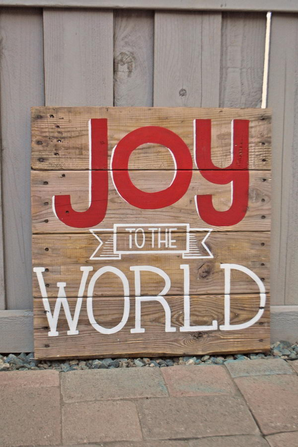 Wedding Decoration Ideas 10+ Cool Christmas Joy Sign Ideas & Tutorials - Hative