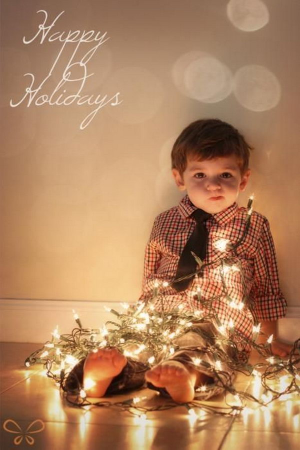 Toddler Child 20 Fun And Creative Christmas Card Photo Ideas - Hative