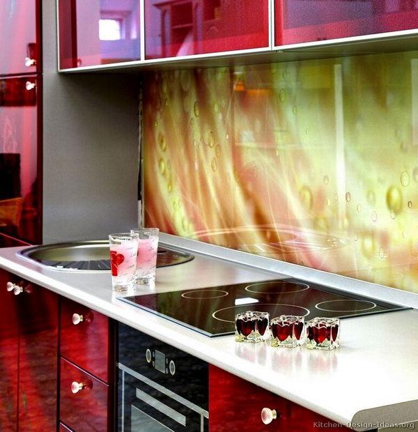 staining add decorative touch kitchen design clear white laminated kitchen backsplash ideas design