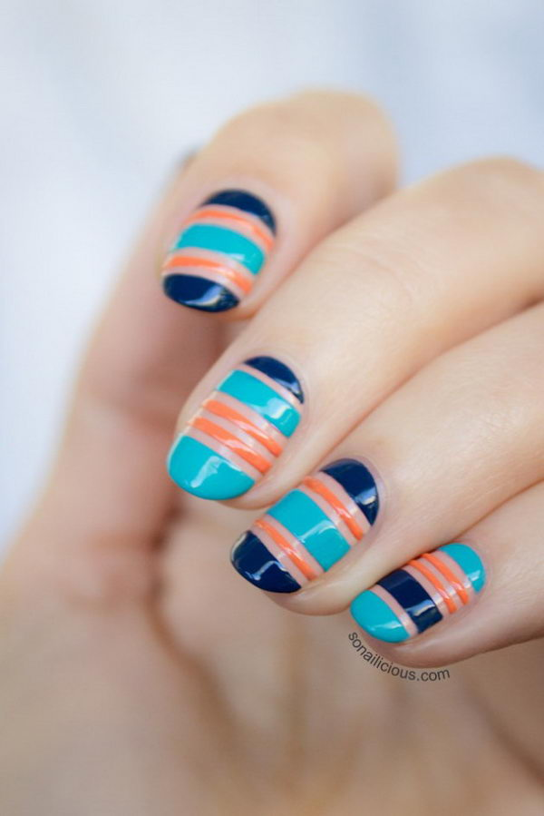 Tattoo Inspiration Cool Stripe Nail Designs - Hative