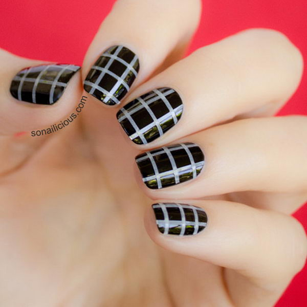 Halloween Make Up Cool Stripe Nail Designs - Hative