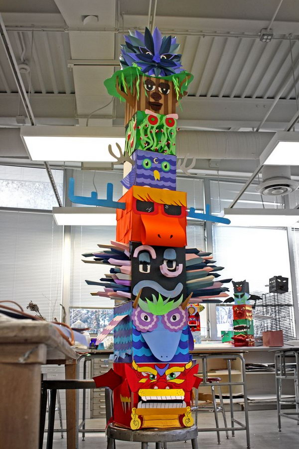 Cool Totem Pole Craft Projects For Kids Hative