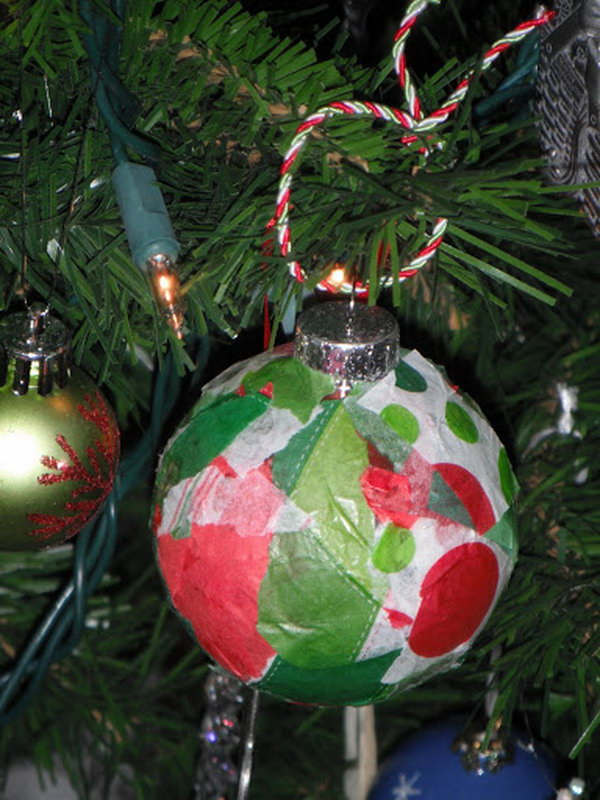 Creative Tissue Paper Crafts for Kids and Adults - Hative - simple christmas tree decorating ideas