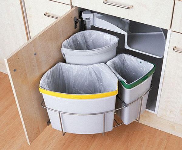put cutting board drawer trash diy clever storage ideas bathroom organization creative