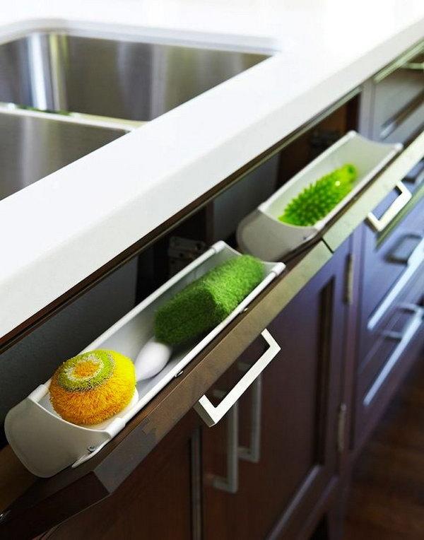 magnetize cutting boards hide cabinets source diy clever storage ideas bathroom organization creative