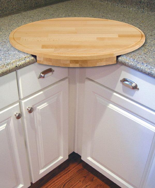 oval cutting board extends countertop extra diy clever storage ideas bathroom organization creative