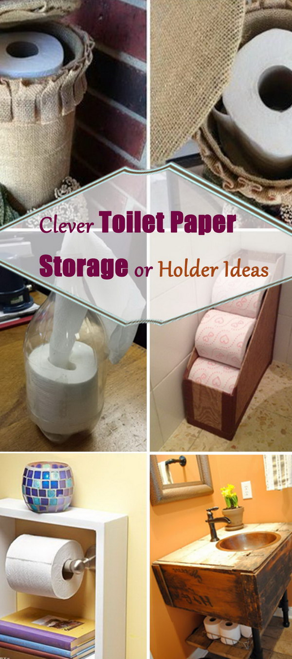 In Wall Toilet Paper Storage Clever Toilet Paper Storage Or Holder Ideas - Hative