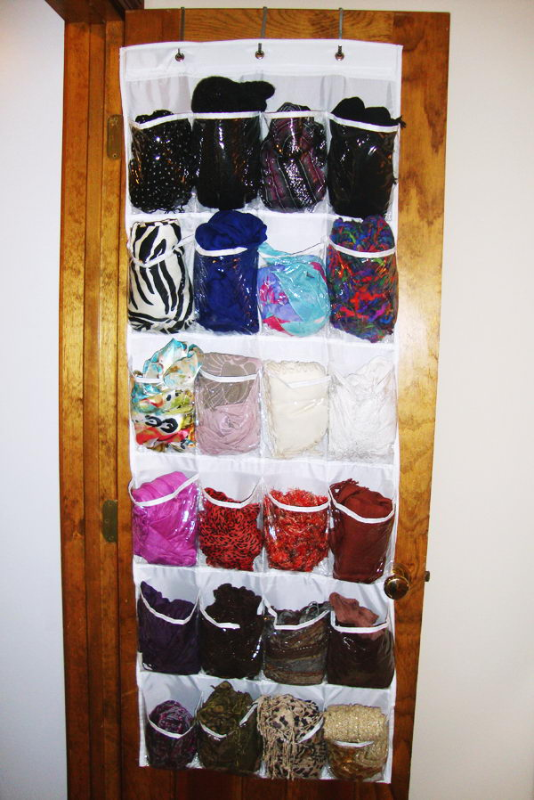 Diy Aufbewahrung 30 Creative Scarf Storage & Display Ideas - Hative