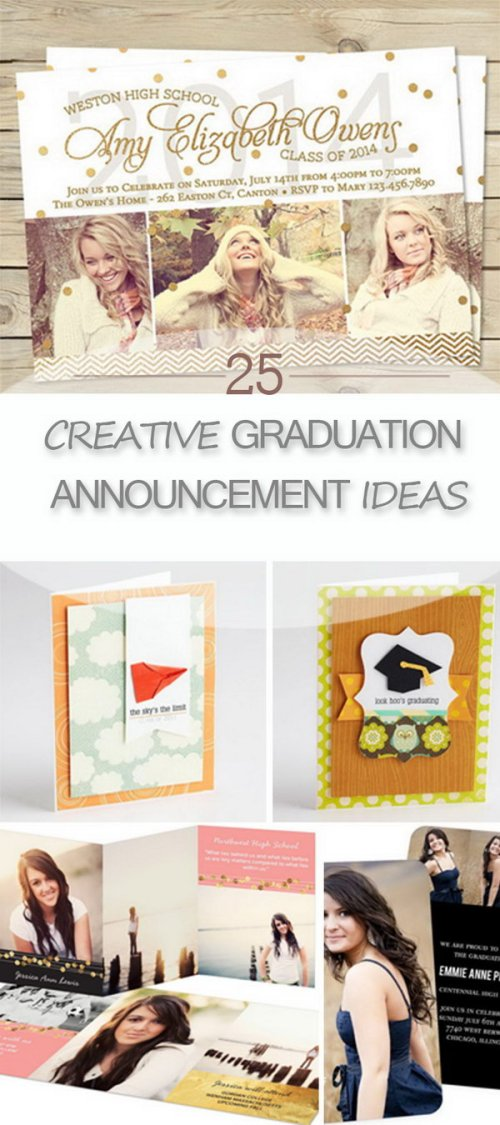 Medium Of Graduation Announcement Ideas