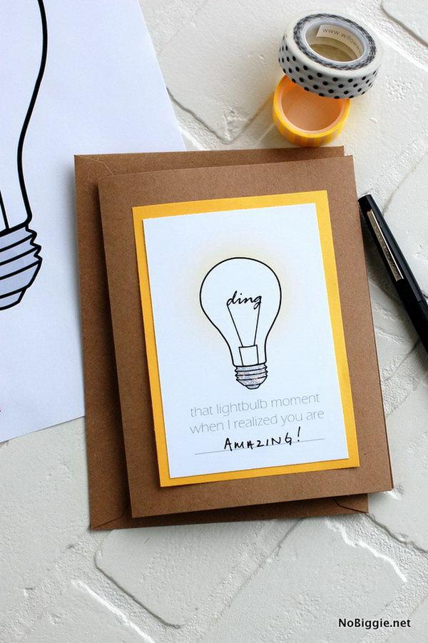 25 DIY Graduation Card Ideas - Hative - print grad cards