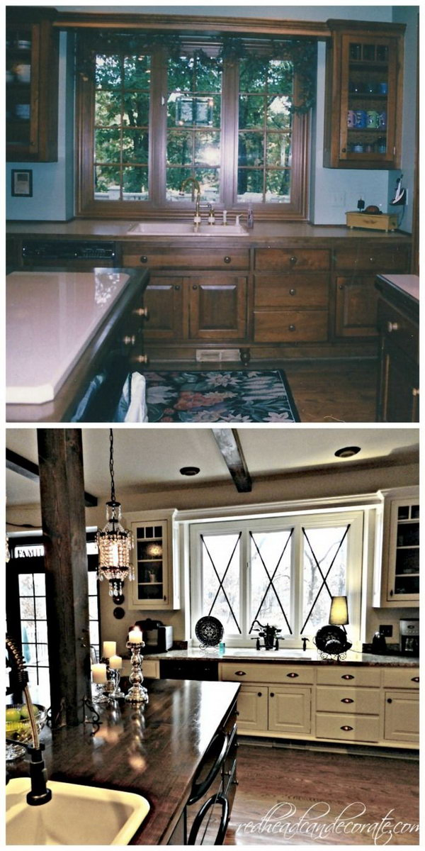 Before and After 25+ Budget Friendly Kitchen Makeover Ideas - Hative