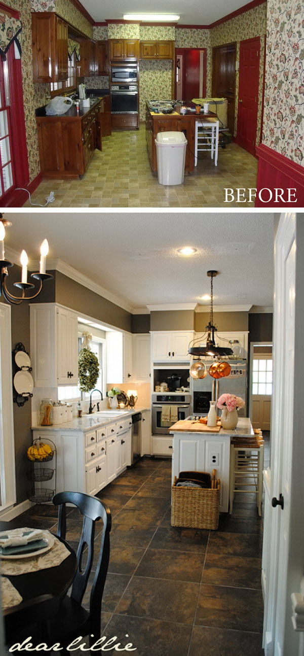 Before and After 25+ Budget Friendly Kitchen Makeover Ideas - Hative - kitchen makeover ideas