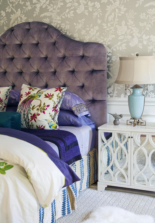 Beautiful Girl Black And White Wallpaper 80 Inspirational Purple Bedroom Designs Amp Ideas Hative