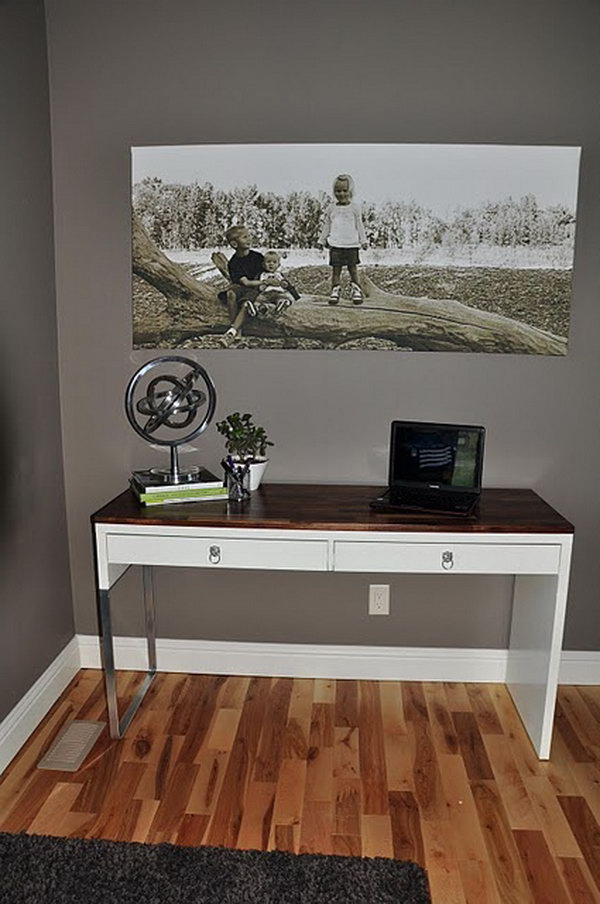Study Desk For Small Space 20+ Cool And Budget Ikea Desk Hacks - Hative