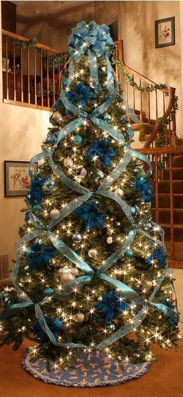 20 Amazing Christmas Tree Decoration Ideas \ Tutorials - Hative - beautiful decorated christmas trees